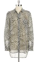 Two By Vince Camuto Leopard Print Blouse - Lyst
