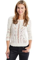 Lucky Brand Ivy Mixed Stitch Sweater - Lyst