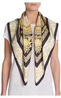 Versace Silk Rococo-print Scarf - Lyst