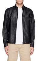 Theory Christo Leather Bomber Jacket - Lyst