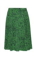Jaeger Abstract Spot Pleated Skirt - Lyst