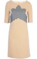 Carven Robe Tweed Zig Zag Dress - Lyst