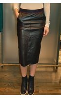 Giada Forte Leather Pencil Skirt Nero - Lyst
