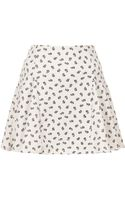 Topshop Mini Daisy Godet Skirt - Lyst