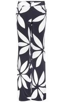 Issa Printed Silk Trousers - Lyst