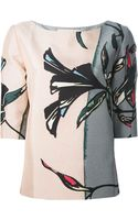 Marni Panelled Floral Print Blouse - Lyst