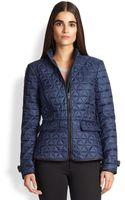 Burberry Brit Laycroft Leatherdetail Quilted Jacket - Lyst