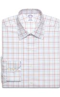 Brooks Brothers Supima Cotton Noniron Regular Fit Spread Collar Twill Alternate Overcheck Luxury Dress Shirt - Lyst