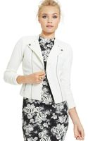 Material Girl Juniors Quilted Moto Jacket - Lyst