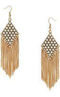 R.j. Graziano Faux Pearl Fringed Drop Earrings - Lyst