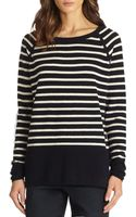 Vince Striped Cashmere Raglan Sweater - Lyst