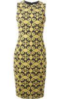 Versace Printed Pencil Dress - Lyst
