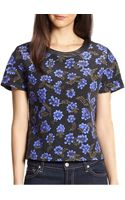 Pjk Patterson J. Kincaid Bloom Quilted Silk Floral-print Top - Lyst
