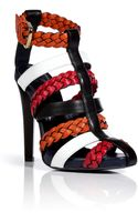 Vionnet Leather Colorblock Sandals - Lyst