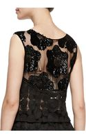 Tracy Reese Contrast Pattern Embellished Shell Black - Lyst
