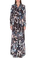 Emilio Pucci Printed Silk Maxi Dress Brown - Lyst