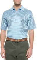 Peter Millar Thinstriped Cotton Polo Shirt - Lyst