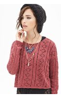 Forever 21 Boxy Open-knit Sweater - Lyst