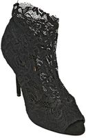 Dolce & Gabbana 110mm Christine Stretch Lace Ankle Boots - Lyst