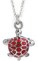 Jan Leslie Turtle Pendant  Charm Necklace - Lyst