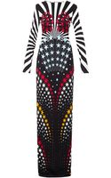 Matthew Williamson Hero Star-print Column Dress - Lyst