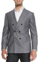 Brunello Cucinelli Silkcashmere Doublebreasted Jacket - Lyst