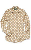C. Wonder Polka Dot Silk Shirt - Lyst