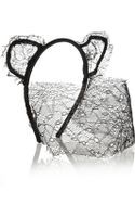 Maison Michel Lace and Satin Cat Ear Headband - Lyst