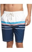 Tommy Hilfiger Big and Tall New Independent Striped Swim Trunks - Lyst