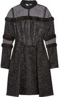 Erdem Meja Organza-paneled Jacquard Mini Dress - Lyst