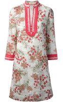 Tory Burch Floral Print Tunic Dress - Lyst