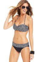 La Blanca Savannah Nights Printed Bandeau Bikini Top - Lyst