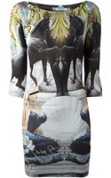 Philipp Plein Lady Horse Print Dress - Lyst