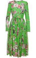 Dolce & Gabbana Lightweight Silk Dress with Wildlife Print - Lyst