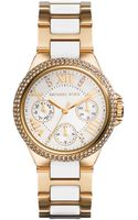 Michael Kors Ladies Mini Camille Goldtone Glitz Chronograph Watch - Lyst