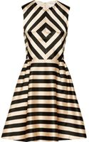 Jill Stuart Linda Printed Satin Dress - Lyst
