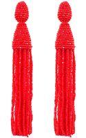 Oscar de la Renta Classic Long Tassel Earrings - Lyst