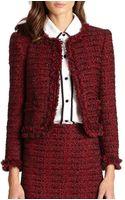Alice + Olivia Kidman Frayed Tweed Jacket - Lyst