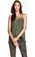 H&M Pleated Top - Lyst