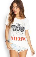 Forever 21 Feline Sunglasses Tee - Lyst
