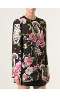 Dolce & Gabbana Floral Animal Print Top - Lyst