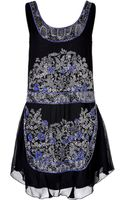 Anna Sui Beaded Cocktail Dress - Lyst