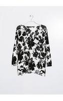 Mango Monochrome Floral Sweater - Lyst
