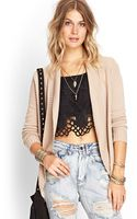 Forever 21 Ribbed Open Cardigan - Lyst