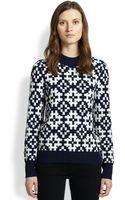 Equipment Tayden Wool Cashmere Geometric Jacquard Sweater - Lyst