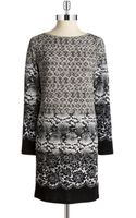 MICHAEL Michael Kors Snake Lace Tunic Dress - Lyst