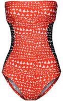 Stella McCartney Bandeau Swimsuit - Lyst