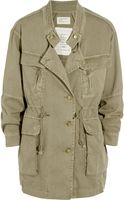 Current/Elliott The Military Cottontwill Parka - Lyst