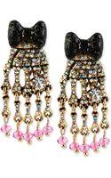 Betsey Johnson Goldtone Skeleton Hand Drop Earrings - Lyst