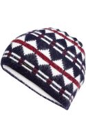 DSquared2 Wool-angora Patterned Knit Hat - Lyst